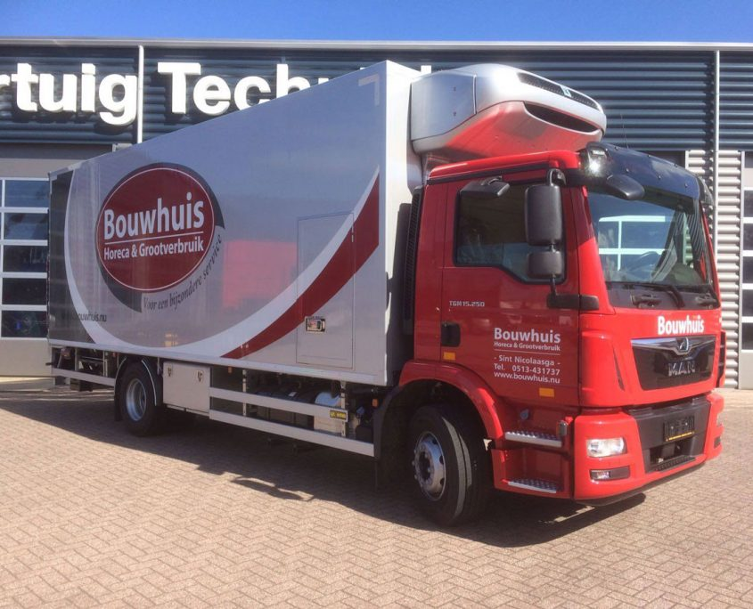 Vrachtwagen Bouwhuis