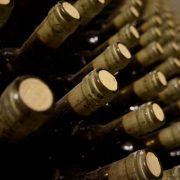 wijn flessen met kurk